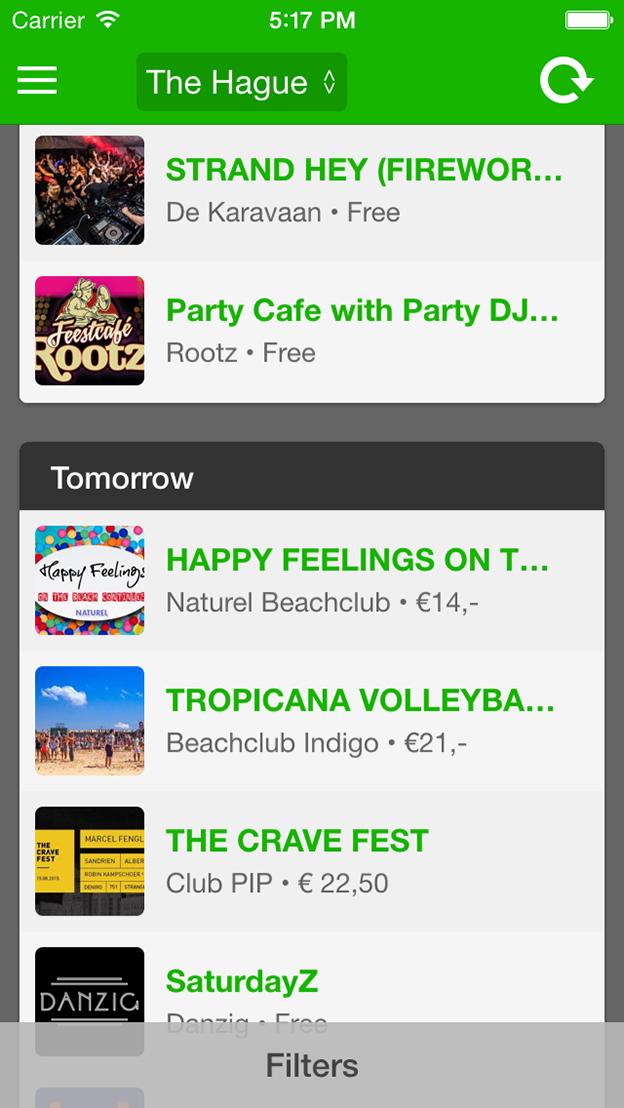 GoneOut screenshot main menu